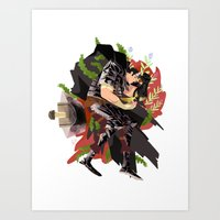berserk Art Prints featuring Guts by Kerederek