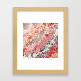 Abstract Bumpy Glass Framed Art Print
