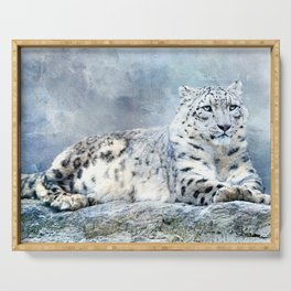 Snow Leopard Serving Tray