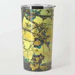 Blossoms Abstract Yellow Travel Mug