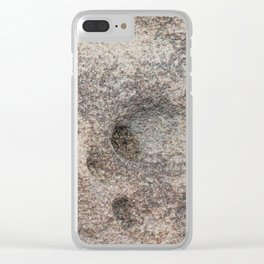 Seawall erosion at Weston-super-Mare Clear iPhone Case