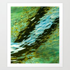 water reflection abstract Art Print