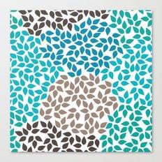 Blue leafs Canvas Print