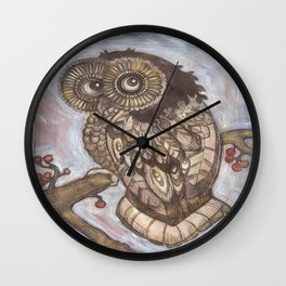 Winters Owl Wall Clock