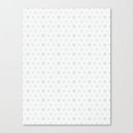 White Festive Christmas Snowflake Stripes Seamless Frost Canvas Print