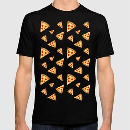 Cool and fun pizza slices pattern T-shirt