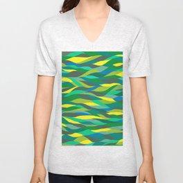 Turquoise Waves Unisex V-Neck