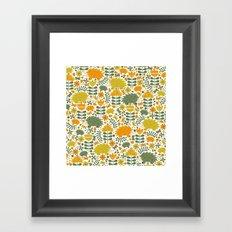 Autumn Hedgehog Forest Framed Art Print