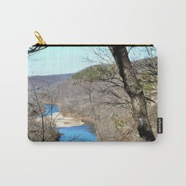Clmbing Up Sparrowhawk Mountain above the Illinois River, No. 2 of 8 Carry-All Pouch
