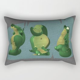 3 dragons in a cave Rectangular Pillow