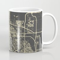 denver Mugs featuring Denver map by Map Map Maps