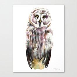Gary The Great Gary Owl. Minimalist Style. Canvas Print