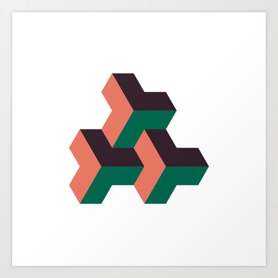 #324 Solid rhythm – Geometry Daily Art Print