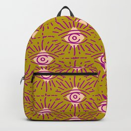 Dainty All Seeing Eye Pattern in Blush Backpack