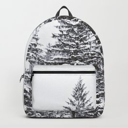 BLACK WINTER TREES Backpack