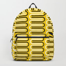 Geometric Pattern 235 (yellow curves) Backpack