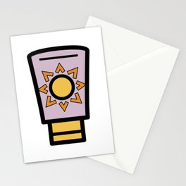 Sun Lotion Very Cute Gift Idea Stationery Cards