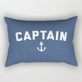 Captain Nautical Quote Rectangular Pillow