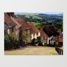 Gold Hill, Dorset Canvas Print
