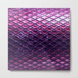 Purple Metallic Snakeskin Pattern Metal Print