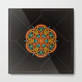 Flomandala One Metal Print