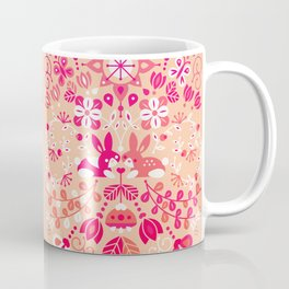 Bunny Lovers – Pink Palette Coffee Mug
