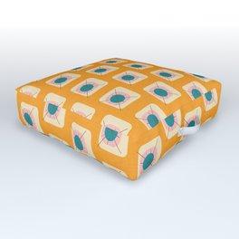 Flower Eggs Yellow Outdoor Floor Cushion
