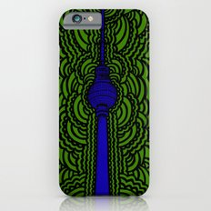 Fernsehturm Drawing Meditation - purple Slim Case iPhone 6s