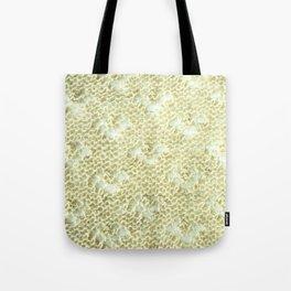 Lace knitting detail Tote Bag