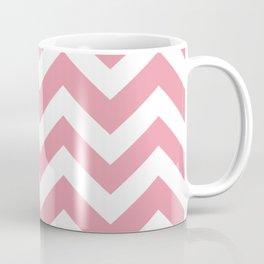 Mauvelous - pink color - Zigzag Chevron Pattern Coffee Mug