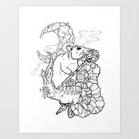 rat Art Prints featuring Rat by Ruff Worlock