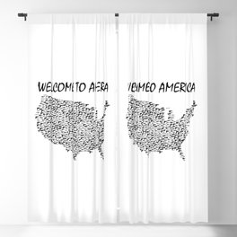 Welcome to America Guns Map Blackout Curtain