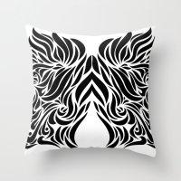 gemini Throw Pillows featuring Gemini by Mario Sayavedra