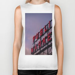 Pike Place Neon Sunrise Biker Tank
