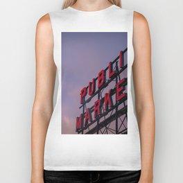 Pike Place Neon Sunrise Biker Tank