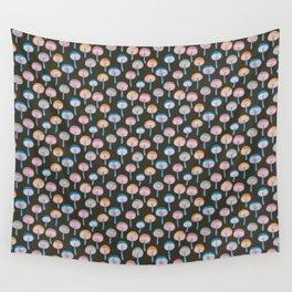 Pattern Project / Mushroom Pattern (Dark) Wall Tapestry