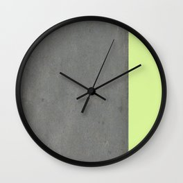 Chartreuse Concrete Wall Clock
