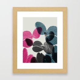 Tri-color cactus Framed Art Print