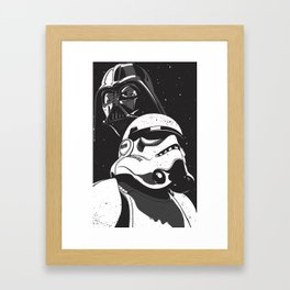 Darth and Storm Framed Art Print