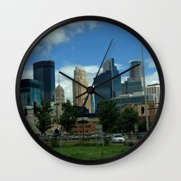Downtown Minneapolis Wall Clock