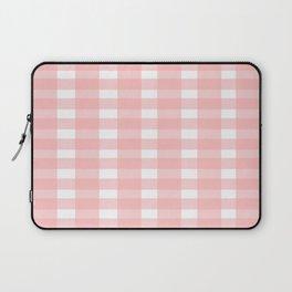 Pink Gingham Design Laptop Sleeve