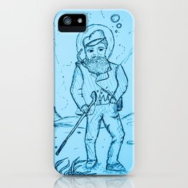 Gentlemanly Pursuits Beneath the Sea iPhone Case