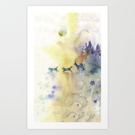 Moony, Wormtail, Paddfoot, and Prongs Art Print