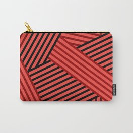 Red striped abstract pattern Carry-All Pouch