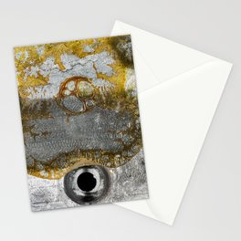 Grunge Metal Texture - Vintage Clock Battery Stationery Cards