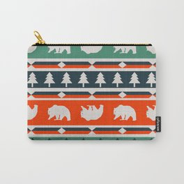 Winter bears and trees Carry-All Pouch