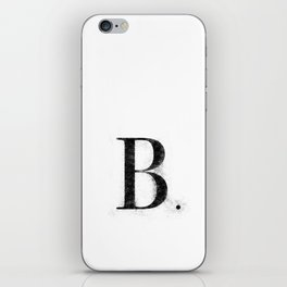 B. - Distressed Initial iPhone Skin