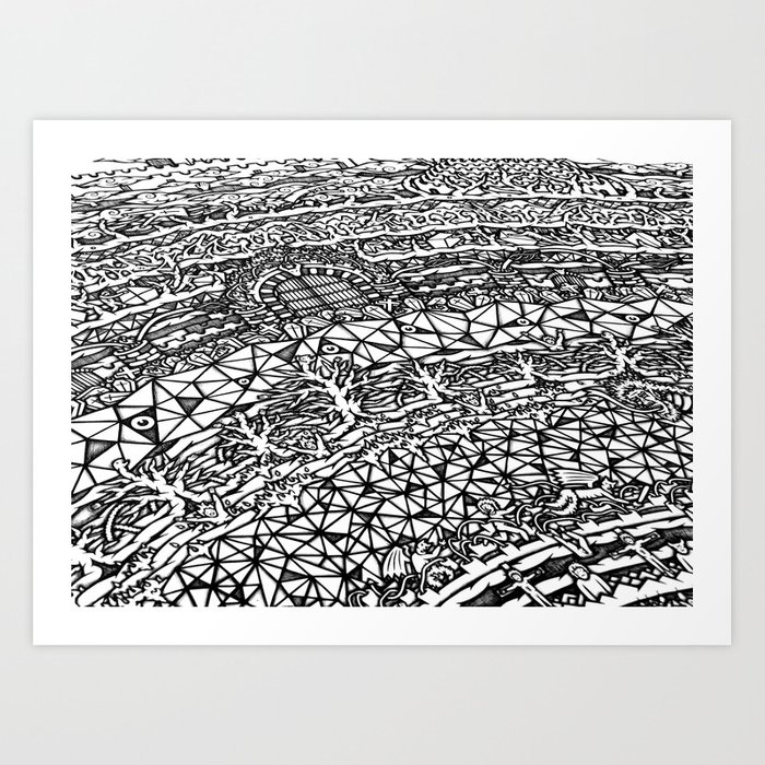 Dante S Inferno Artwork Art Print By Badmandala