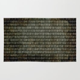 The Binary Code - Dark Grunge version Rug