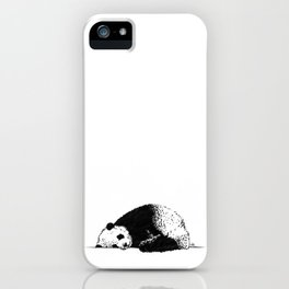 Sleepy Panda iPhone Case